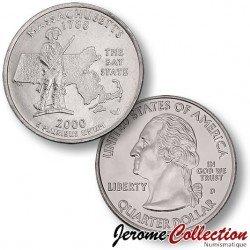 ETATS-UNIS / USA - PIECE de 25 Cents (Quarter States) - Massachusetts - 2000