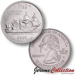 ETATS-UNIS / USA - PIECE de 25 Cents (Quarter States) - Virginie