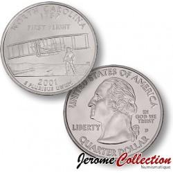 ETATS UNIS / USA - PIECE de 25 Cents (Quarter States) - Caroline de Nord - 2001 - D