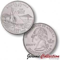 ETATS UNIS / USA - PIECE de 25 Cents (Quarter States) - Rhode Island - 2001 - D