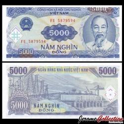 VIETNAM - Billet de 5000 Dong - 1991
