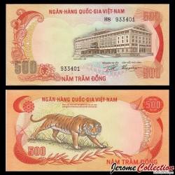 SUD VIETNAM - Billet de 500 Dong - Tigre - 1972 P33a