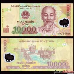 VIETNAM - Billet de 10000 Dong - Polymer - 2014