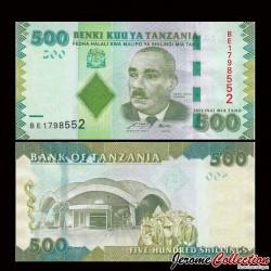 TANZANIE - Billet de 500 Shillings - 2010 P40a