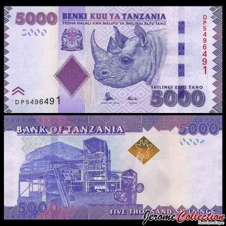 TANZANIE - Billet de 5000 Shillings - 2015