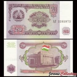TADJIKISTAN - Billet de 20 Roubles - 1994