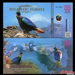 ATLANTIC FOREST - Billet de 35 Aves - Lophophore resplendissant - 2017 0035 AVES
