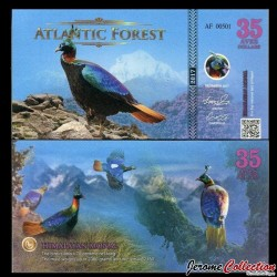 ATLANTIC FOREST - Billet de 35 Aves - Lophophore resplendissant - 2017