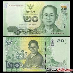 THAILANDE - Billet de 20 Baht - 2017