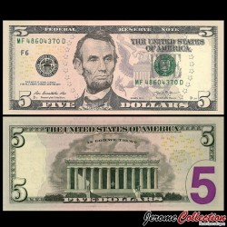 ETATS UNIS - Billet de 5 DOLLARS - 2013 - F(6) Atlanta