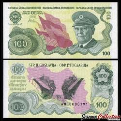 YOUGOSLAVIE - Billet de 100 Dinara - Tito - 1989 / 2016 Tito 100 - Gabris