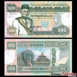 SARAWAK - Billet de 500 DOLLARS - Orang-outan - 2017