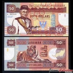 SARAWAK - Billet de 50 DOLLARS - Tigre - Type I - 2017
