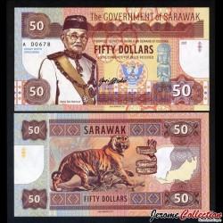 SARAWAK - Billet de 50 DOLLARS - Tigre - Type II - 2017