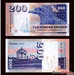 ÅLAND / FINLANDE - Billet de 200 Kronor - Corbeau - 2016
