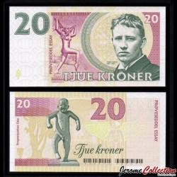 NORVEGE - Billet de 20 Kroner - Gustav Videland - 2016 NORV 20K 2016 - Gabris