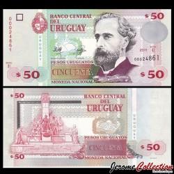 URUGUAY - Billet de 50 Pesos Uruguayos - 2011 P87b