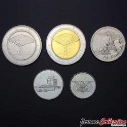 YEMEN - SET / LOT de 5 PIECES de 1 5 10 20 Rials - 1993 2004 2006 2009