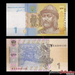 UKRAINE - Billet de 1 Hrivnya - Prince St. Vladimir - 2011