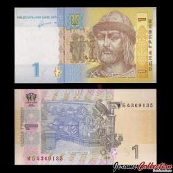 UKRAINE - Billet de 1 Hrivnya - Prince St. Vladimir - 2011 P116Ab