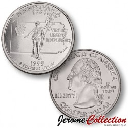 ETATS-UNIS / USA - PIECE de 25 Cents (Quarter States) - Pennsylvannie - 1999