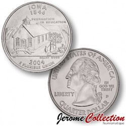 ETATS UNIS / USA - PIECE de 25 Cents (Quarter States) - Iowa - 2004 - D