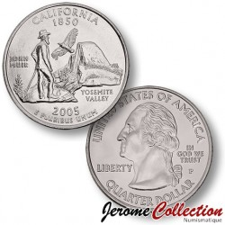 ETATS UNIS / USA - PIECE de 25 Cents (Quarter States) - Californie - 2005 - D