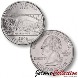 ETATS-UNIS / USA - PIECE de 25 Cents (Quarter States) - Virginie de l'Ouest