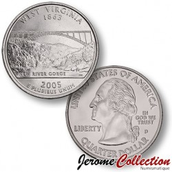 ETATS-UNIS / USA - PIECE de 25 Cents (Quarter States) - Virginie de l'Ouest - 2005