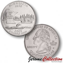 ETATS UNIS / USA - PIECE de 25 Cents (Quarter States) - Minnesota - 2005 - D