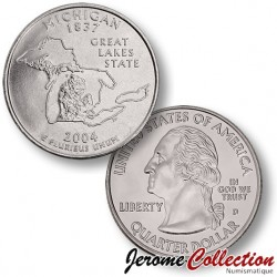 ETATS UNIS / USA - PIECE de 25 Cents (Quarter States) - Michigan - 2004 - D