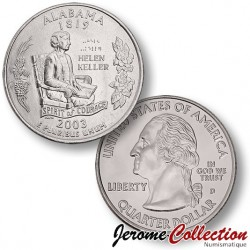 ETATS UNIS / USA - PIECE de 25 Cents (Quarter States) - Alabama - 2003 - D