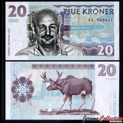 NORVEGE - Billet de 20 Kroner - Erlend Loe - 2016