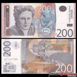SERBIE - Billet de 200 Dinara - 2013