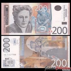 SERBIE - Billet de 200 Dinara - Nadežda Petrović - 2013 P58b