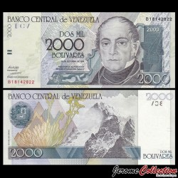 VENEZUELA - Billet de 2000 Bolivares - 1998 P80a
