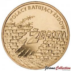 POLOGNE - PIECE de 2 ZLOTE - Sauveurs de juifs polonais - 2009
