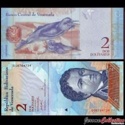 VENEZUELA - Billet de 2 Bolivares - 24 05 2007
