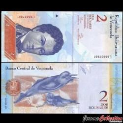 VENEZUELA - Billet de 2 Bolivares - 27 12 2012
