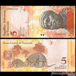 VENEZUELA - Billet de 5 Bolivares - 20 03 2007