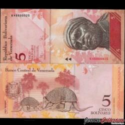 VENEZUELA - Billet de 5 Bolivares - 03 09 2009