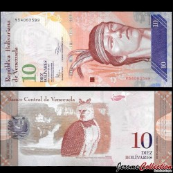 VENEZUELA - Billet de 10 Bolivares - 19 08 2014
