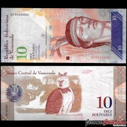 VENEZUELA - Billet de 10 Bolivares - 29 10 2013