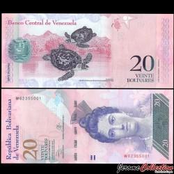 VENEZUELA - Billet de 20 Bolivares - 29 10 2013 P91f