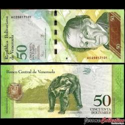 VENEZUELA - Billet de 50 Bolivares - 29 10 2015 P92j