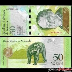 VENEZUELA - Billet de 50 Bolivares - 05 11 2015