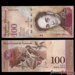 VENEZUELA - Billet de 100 Bolivares - 29 10 2013
