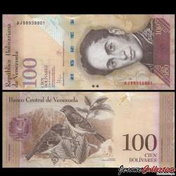 VENEZUELA - Billet de 100 Bolivares - 23 06 2015