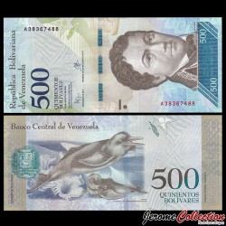 VENEZUELA - Billet de 500 Bolivares - 18 08 2016