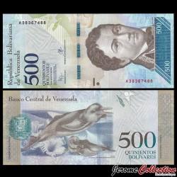 VENEZUELA - Billet de 500 Bolivares - 18 08 2016 P94a